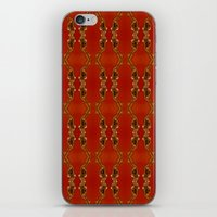 ashton irwin iPhone & iPod Skins featuring Influenza C Tapestry by Alhan Irwin by Microbioart