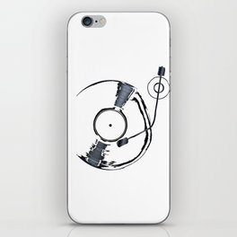 Record Deck Background iPhone Skin