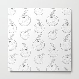 Cute and nice fruits and berry  with orange Metal Print
