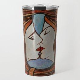 Lesbian Kiss (Art Nouveau Style) Travel Mug