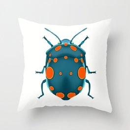 Physic Nut Stink Bug Throw Pillow