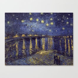 Vincent Van Gogh Starry Night Over The Rhone Canvas Print