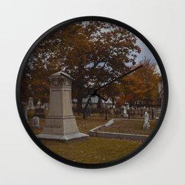Andrew Borden's Grave - Fall River, Massachusetts Wall Clock