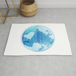 Every Day Is Earth Day - Blue 04 Rug