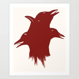 A Murder of Crows Art Print