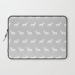 Deer pattern minimal nursery basic grey and white camping cabin chalet decor Laptop Sleeve