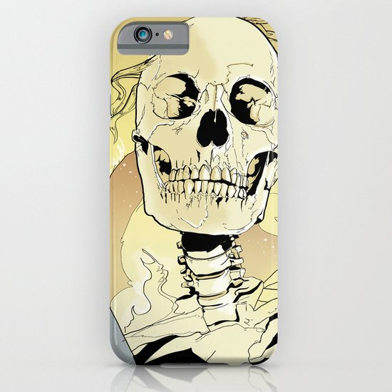 Skeleton on Fire iPhone & iPod Case