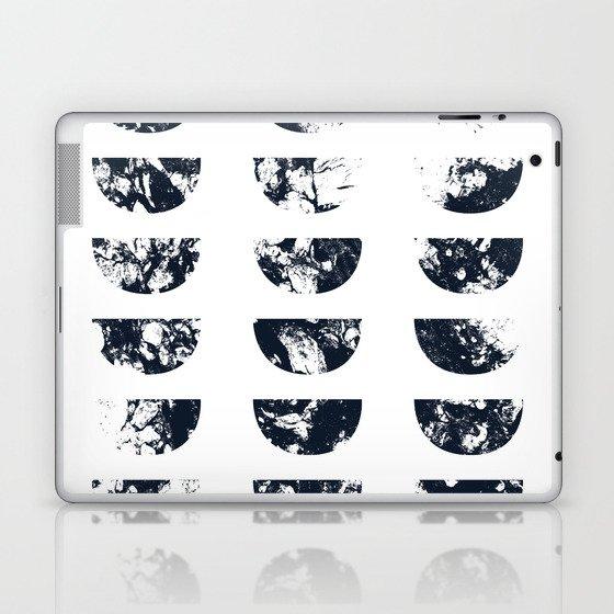 Josie Navy Blue Half Moon Abstract Laptop & iPad Skin