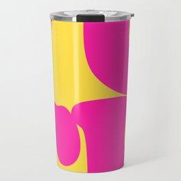 60's Style Pop Art Typographic F*CK Artwork Travel Mug