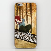 eternal sunshine of the spotless mind iPhone & iPod Skins featuring Eternal Sunshine by Lindsey Pudlewski