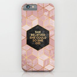 She believed she could so she did iPhone Case