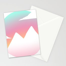 Sunset Mountain Vector Stationery Cards