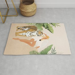 The Lady and the Tiger Rug
