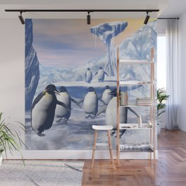 Funny penguins  Wall Mural