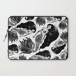 Mermaid Linocut Laptop Sleeve