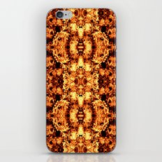 Brown Yellow  Flower Pattern iPhone & iPod Skin
