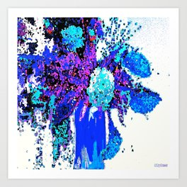 Callas and Orchids Abstract Floral 3 Art Print