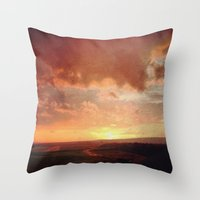 courage Throw Pillows featuring Courage by Elina Cate