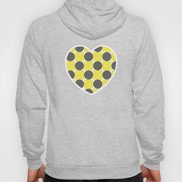 Gray and Yellow Squares and Circles Seamless Pattern 006#001 Hoody