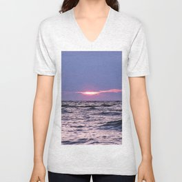 Water level Sunset Unisex V-Neck