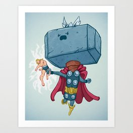 The Mighty Mjolnir Art Print