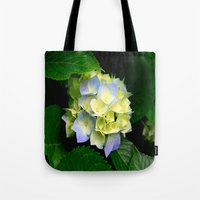 hydrangea Tote Bags featuring Hydrangea  by Chris' Landscape Images & Designs