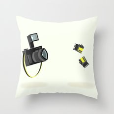 Camera & Film Throw Pillow