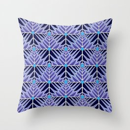 Crystal Feathers Lavender Throw Pillow