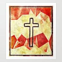 cross Art Prints featuring Cross by 6-4-3