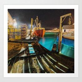 Light in the Wharf Art Print