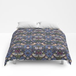 William Morris Strawberry Thief Pattern Comforters