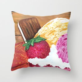 Ice Cream Dream Throw Pillow