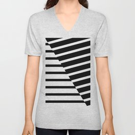 Abstract Striped Triangles Unisex V-Neck