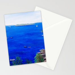 Scenic lake view Stationery Cards