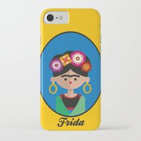 frida iPhone & iPod Cases featuring Frida by Juliana Motzko