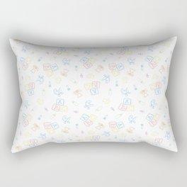 Baby Symbols Sketch - White Cloud Rectangular Pillow