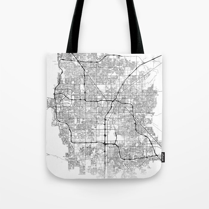 Minimal City Maps - Map Of Las Vegas, Nevada, United States Tote Bag