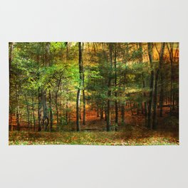 Autumn Sunset - In The Woods Rug