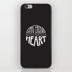 Grateful Heart iPhone & iPod Skin