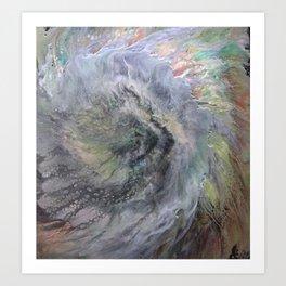 Cellular Explosion EYE OF THE STORM Art Print