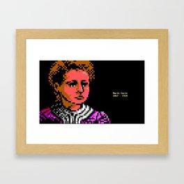 Marie Curie Portrait Framed Art Print