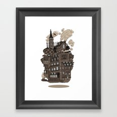 Flying city. Framed Art Print