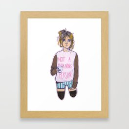 Not a morning person Framed Art Print