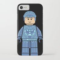 tron iPhone & iPod Cases featuring Tron Lego by Ant Atomic