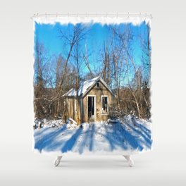 Old House in the Snow Shower Curtain