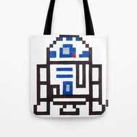 r2d2 Tote Bags featuring r2d2 by Walter Melon