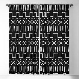 Black Mud Cloth Blackout Curtain