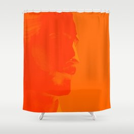 L'homme - flame Shower Curtain