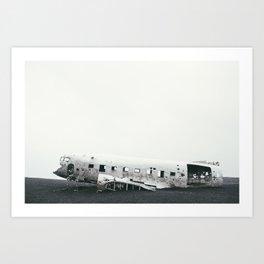 Abandoned Plane Iceland Art Print