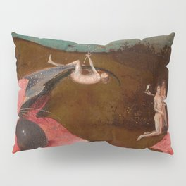 "Hieronymus Bosch ""The Last Judgment"" triptych (Bruges) left panel Pillow Sham"